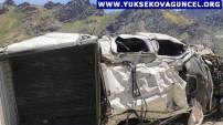 Yüksekova Sat Gölleri yolunda kaza: 6 ölü