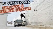 Yüksekova'da 6 Metreyi Geçen Kar Tünelleri