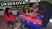 Yüksekova..! Kızı İçin Bu Kez Maket Gemi Yaptı
