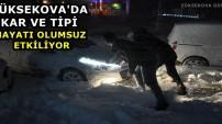 Yüksekova'da Kar Ve Tipi Hayatı Olumsuz Etkiliyor