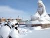 Van'da kar manzaraları