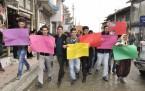 Şemdinli'de Elektrik  Kesintisi Protesto Edildi