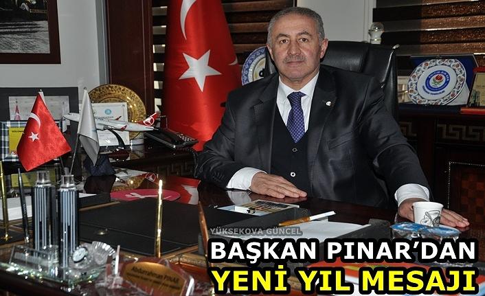 Başkan Pınar'dan Yeni Yıl Mesajı