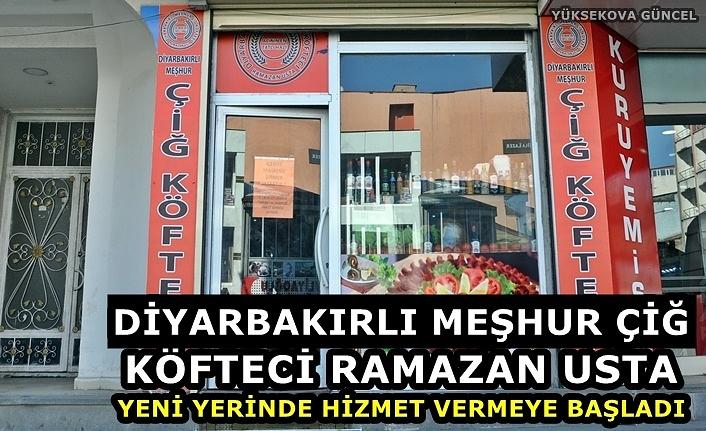 Diyarbakırlı meşhur çiğ köfteci Ramazan usta, yeni yerinde hizmet vermeye başladı