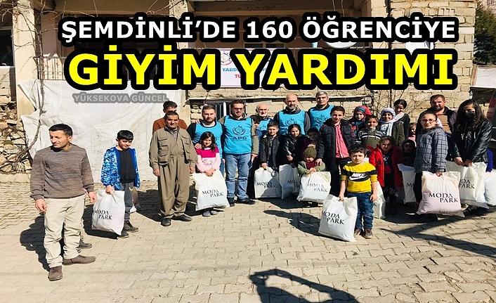 Şemdinli'de 160 öğrenciye giyim yardımı