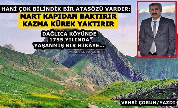 Yüksekova Dağlıca Köyünde 1755 Yılında Yaşanmış Bir Hikâye