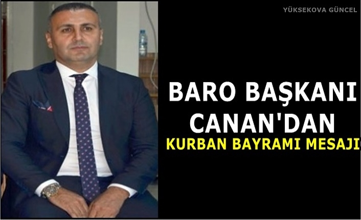 Başkan Canan'dan Kurban Bayram Mesajı