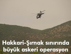 HAKKARİ-ŞIRNAK SINIRINDA ASKERİ OPERASYON
