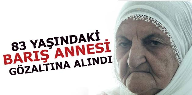 83 yaşındaki Barış Annesi gözaltına alındı