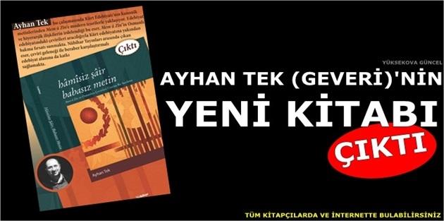 Ayhan Tek (Geveri)'nin Yeni Kitabı Çıktı