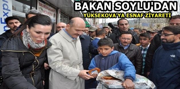 Bakan Soylu'dan Yüksekova'ya Esnaf Ziyareti