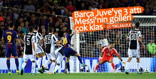 Barcelona Juve'yi rahat geçti