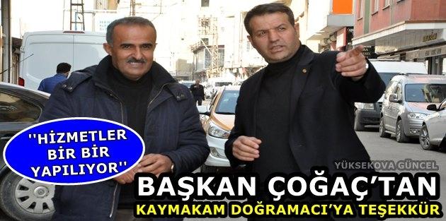 Başkan Çoğaç'tan Kaymakam Doğramacı'ya Teşekkür