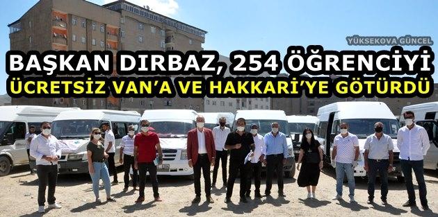Başkan Dırbaz, 254 Öğrenciyi Ücretsiz Van'a Ve Hakkari'ye Götürdü