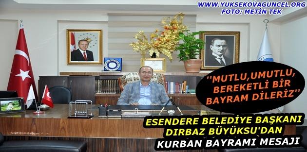 Başkan Dırbaz'dan Kurban Bayramı Mesajı