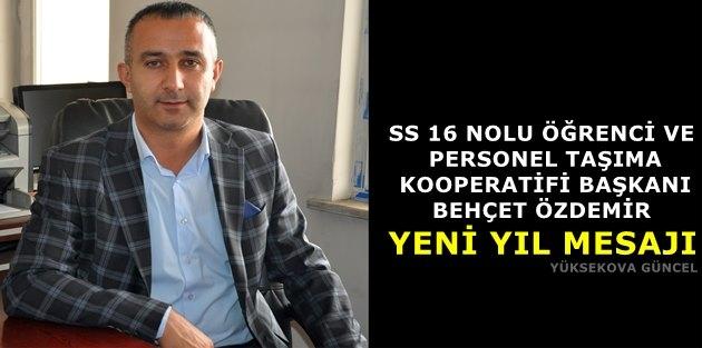 Başkan Özdemir'den Yeni Yıl Mesajı
