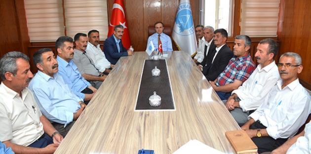 Belediye başkanı Epcim muhtarlarla toplantı düzenledi