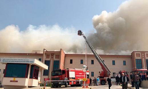 Bursa'da hastanede yangın