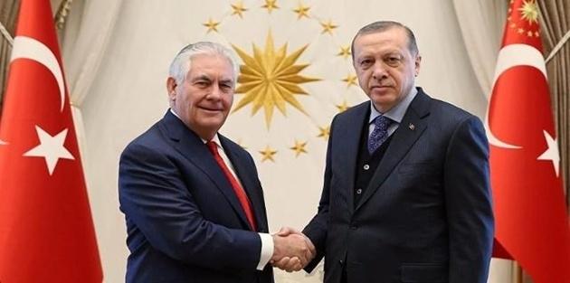 Erdoğan ve Tillerson 3 saat görüştü... Cumhurbaşkanlığı kaynakları: Olumlu geçti