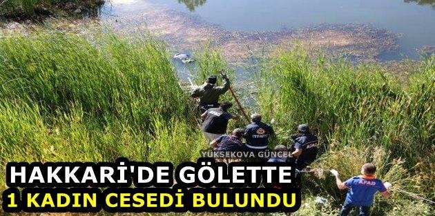 Hakkari'de gölette 1 kadın cesedi bulundu