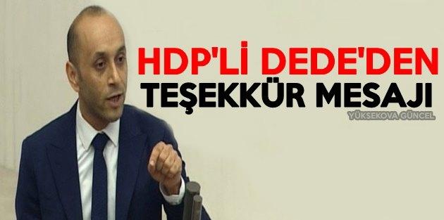 HDP'li Dede'den Teşekkür Mesajı