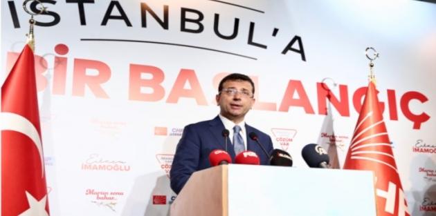 İmamoğlu: AA'nın verisinde de nihayet İstanbul kırmızı renge boyanmıştır.