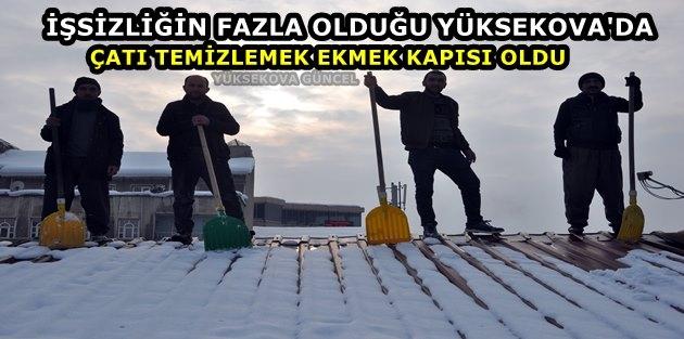 İşsizliğin Fazla Olduğu Yüksekova'da Çatı Temizlemek Ekmek Kapısı Oldu