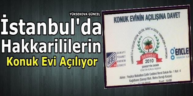 İstanbul'da Hakkarililerin Konuk Evi Açılıyor