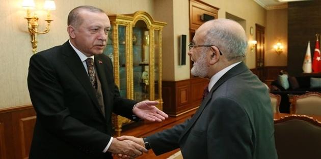 Karamollaoğlu Erdoğan'la görüştü