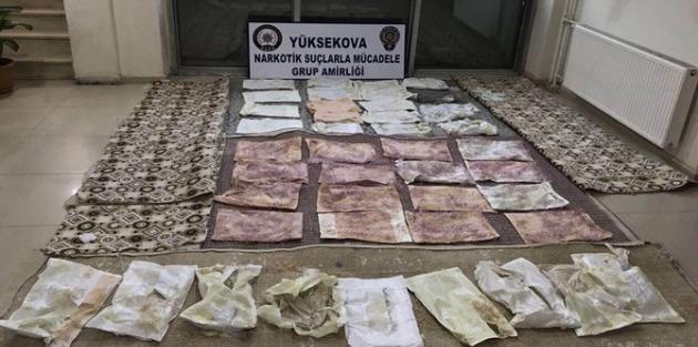 Kargo aracında 14 kilo 795 gram eroin ele geçirildi