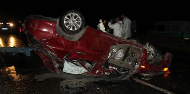 Kayseri'de otomobil takla attı: 4 ölü, 1 yaralı