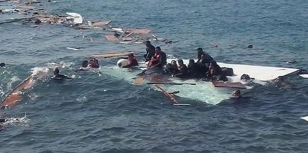 Kıbrıs açıklarında 160 kişilik mülteci teknesi battı