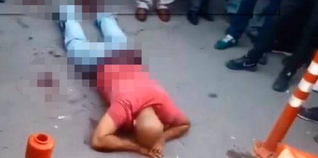 Kızını taciz eden kişiyi mahallede yakalayıp bıçakla yaraladı