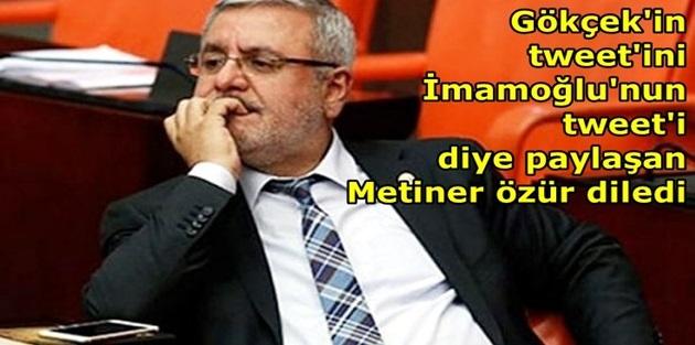 Mehmet Metiner özür diledi