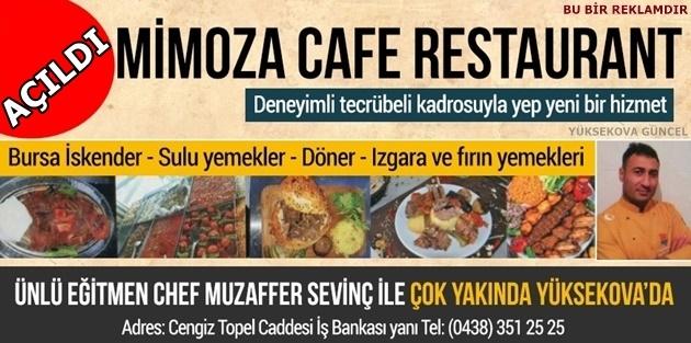 Mimoza Cafe Restaurant Açıldı