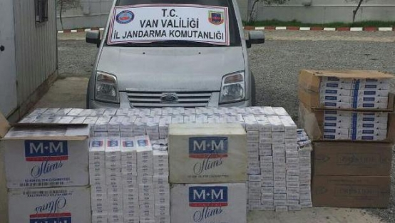 Muradiye'de 11 bin 60 paket kaçak sigara ele geçirildi