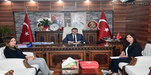 Özcan'dan Kaymakam Doğramacı'ya Ziyaret