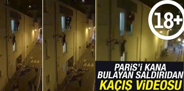 Paris'i kana bulayan saldırıdan kaçış videosu