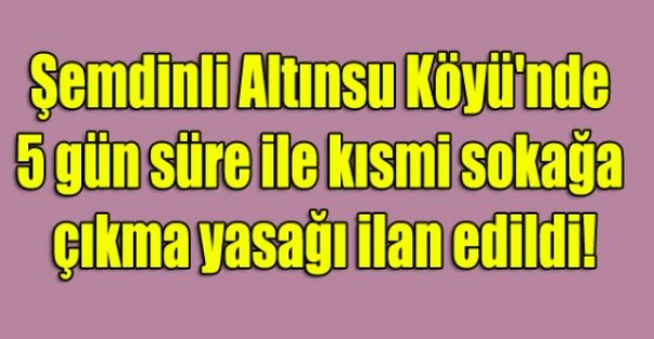 Şemdinli'de  5 gün sokağa çıkma yasağı
