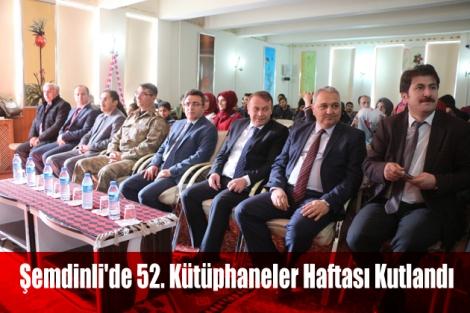 Şemdinli'de 52. Kütüphaneler Haftası Kutlandı