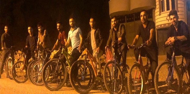 Şemdinli'de iftardan sonra bisiklet gezintisi