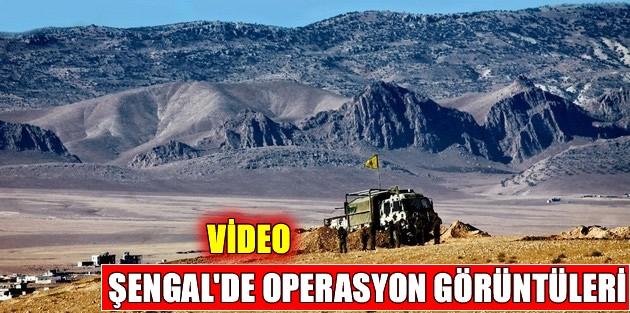 Şengal'de operasyon görüntüleri