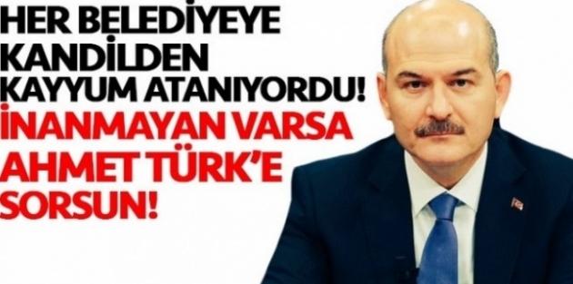 Soylu: Ahmet Türk belediye başkanı iken sigarasını yakan terörist kimdi?
