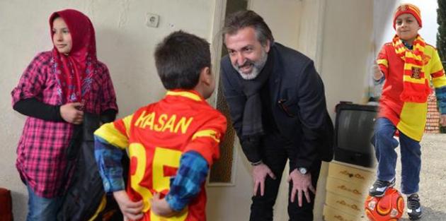 Suriyeli küçük Hasan'ı sevindiren ziyaret