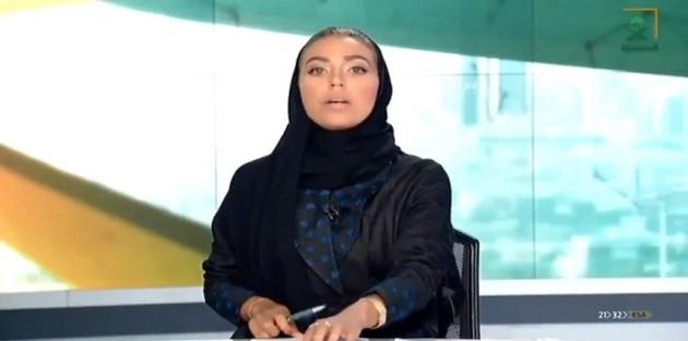 Suudi Arabistan'ın Resmi Kanalında Bir Kadın Spiker, İlk Kez Ana Haber Bültenini Sundu