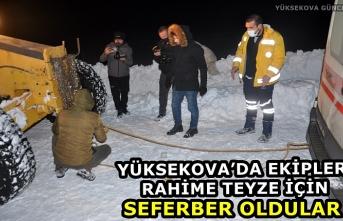 Yüksekova'da Ekipler Rahime Teyze İçin Seferber Oldular