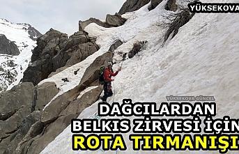 Dağcılardan Belkıs Zirvesi için rota tırmanışı
