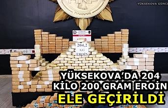 Yüksekova'da 204 Kilo 200 Gram Eroin Ele Geçirildi