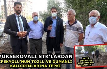 Yüksekovalı STK'lardan İpekyolu'nun Tozlu-Dumanlı Ve Çamurlu Kaldırımlarına Tepki