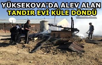 Yüksekova'da alev alan tandır evi küle döndü
